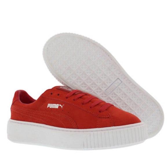 dad6fbe3bbc Puma Shoes - Puma Suede Creepers - Red